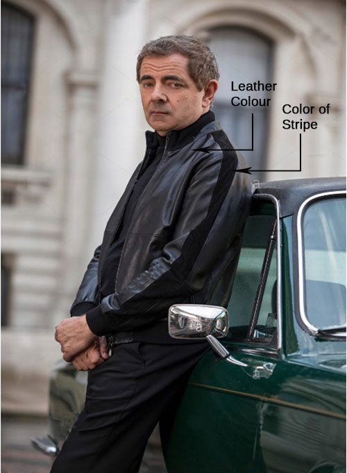 Rowan Atkinson Johnny English Strikes Again Leather Jacket - Click Image to Close