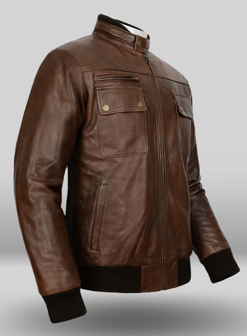 Spanish Brown Leather Jacket # 94  LeatherCult.com Leather Jeans | Jackets | Suits