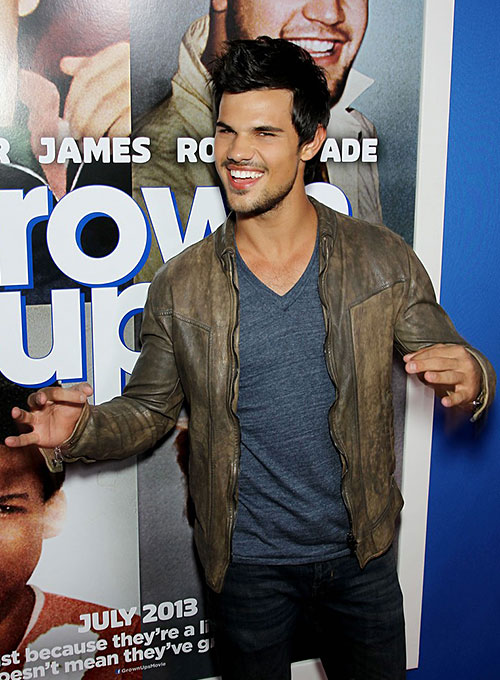 Taylor Lautner Leather Jacket - Click Image to Close