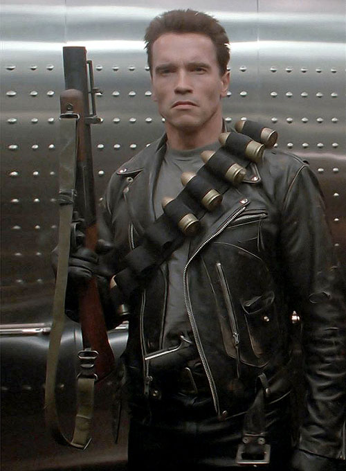Terminator 2 Arnold Schwarzenegger Leather Jacket ...