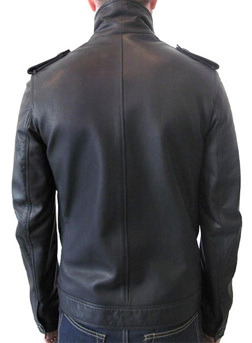 Short Trench Leather Jacket