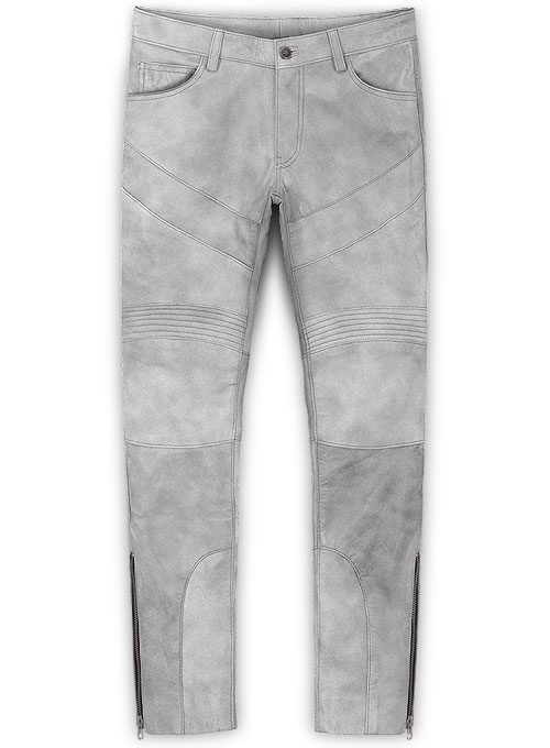 Harbor Gray Leather Biker Jeans #511