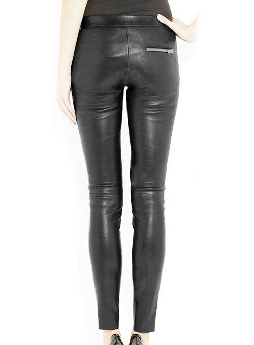 Azar Leather Biker Jeans