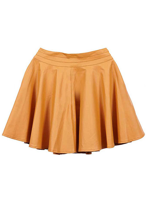 Beloved Flare Leather Skirt - # 434