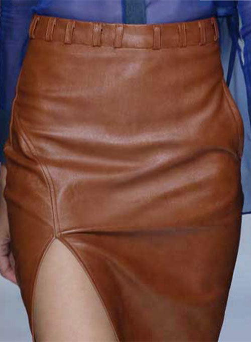 Brandy Leather Skirt - # 475
