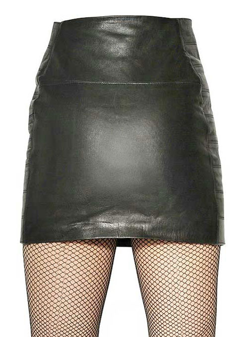 Buckled Up Leather Skirt - # 439