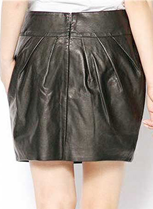Curvy Leather Skirt - # 426