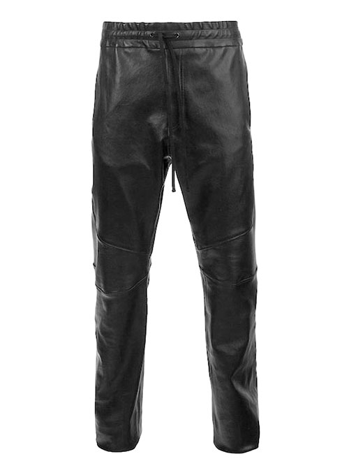 Drawstring Designer Leather Pants