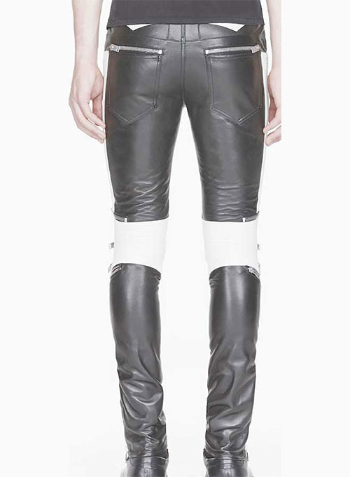Electric Zipper Combination Leather Pants - Click Image to Close