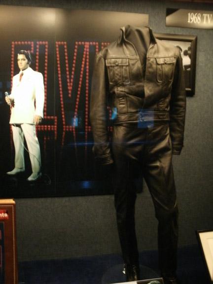 elvis presley leather suit