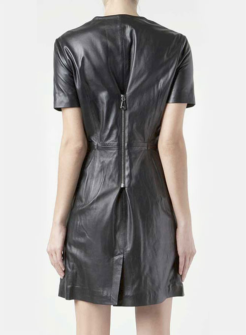 Exposed Zip Leather Dress - # 774