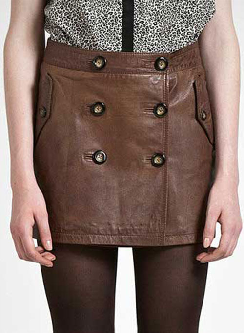 Eyelet Leather Skirt - # 160
