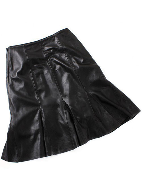 Fit and Flare Leather Skirt
