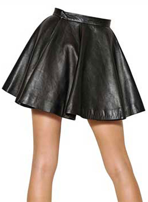 Flounced Leather Skirt - # 141