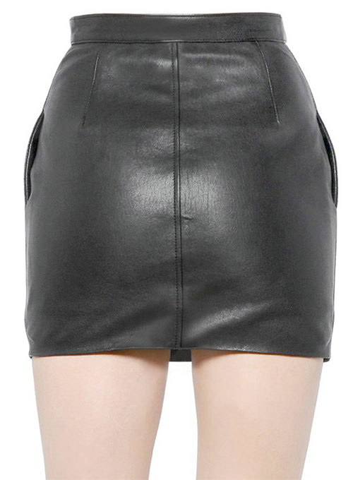 Foster Zip Leather Skirt - # 470
