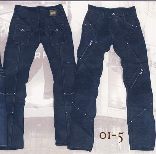 Leather Cargo Jeans - Style 01-5