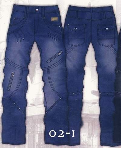 Leather Cargo Jeans - Style 2-1- 50 Colors