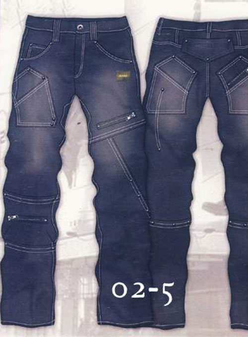 Leather Cargo Jeans - Style 2-5