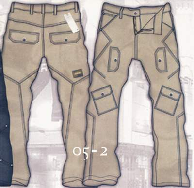 Leather Cargo Jeans - Style 5-2