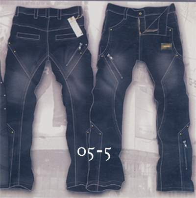 Leather Cargo Jeans - Style 5-5- 50 Colors