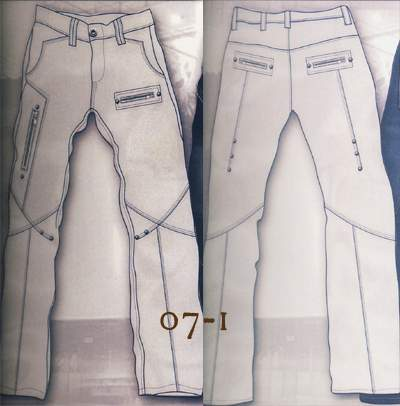 Leather Cargo Jeans - Style 07-1 - 50 Colors