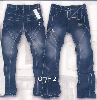 Leather Cargo Jeans - Style 07-2 - 50 Colors