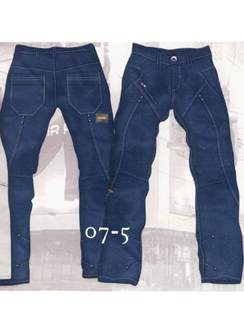 Leather Cargo Jeans - Style 07-5