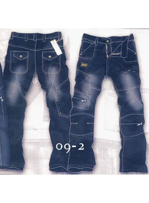 Leather Cargo Jeans - Style 9-2