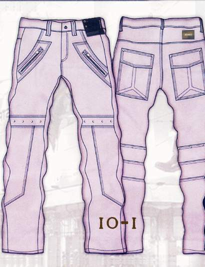 Leather Cargo Jeans - Style 10-1- 50 Colors