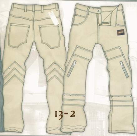 Leather Cargo Jeans - Style 13-2- 50 Colors