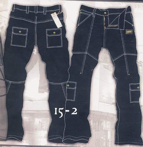 Leather Cargo Jeans - Style 15-2 - 50 Colors