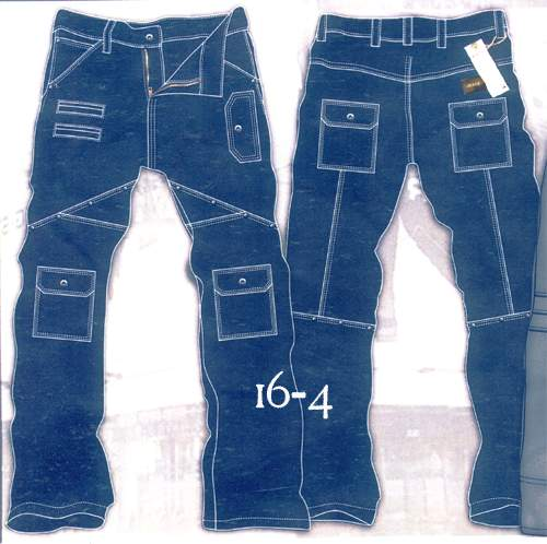 Leather Cargo Jeans - Style 16-4- 50 Colors