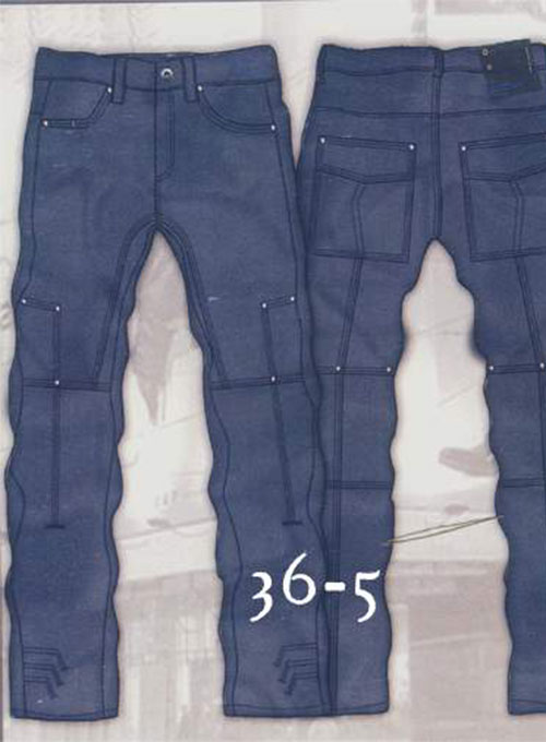 Leather Cargo Jeans - Style 36-5