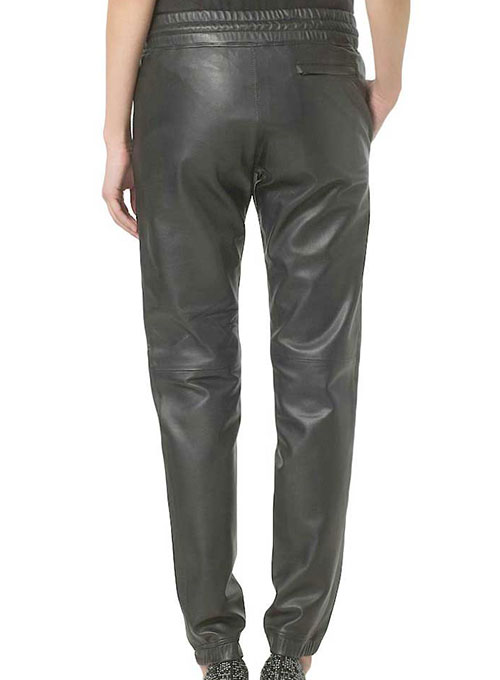 Gym Drawstring Leather Pants