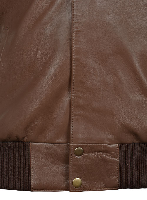 Hunter Bomber Leather Jacket - Click Image to Close