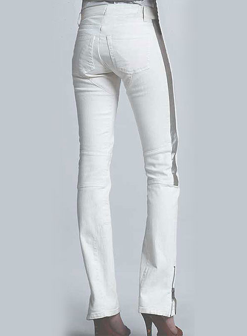 Leather  Biker Jeans - Style #511