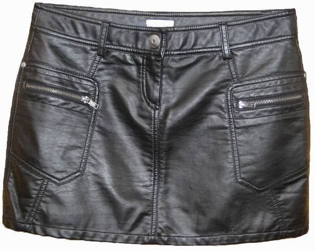 Leather Mini Skirt with Pockets - 50 Colors