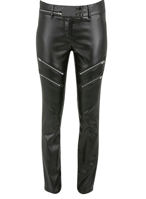 Leather  Biker Jeans - Style #504