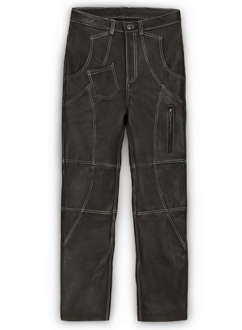 Leather Cargo Jeans - Style 9-5- 50 Colors