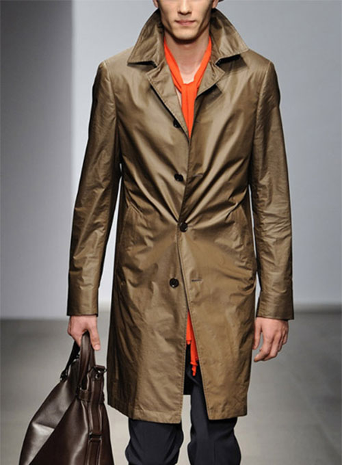 Leather Long Coat #202
