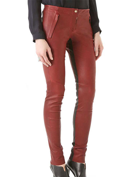 Lucky Stripe Leather Pants