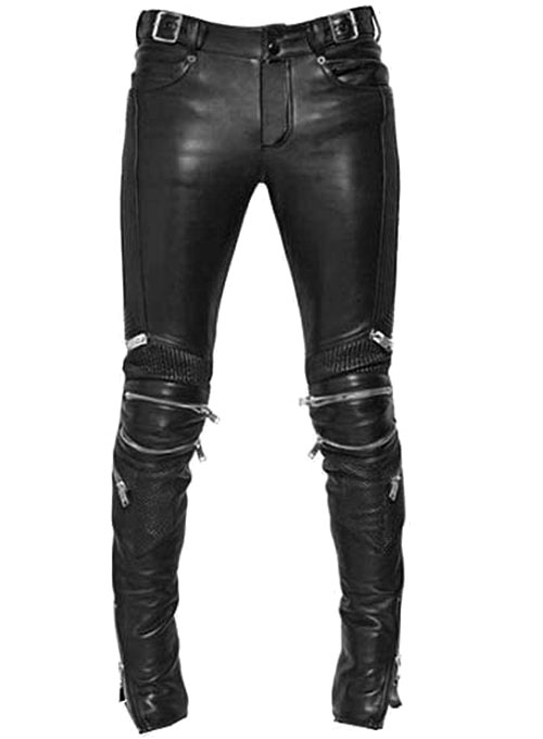 Electric Zipper Mono Leather Pants Leathercult Com
