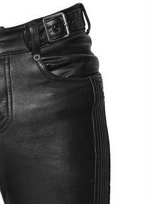 Electric Zipper Mono Leather Pants