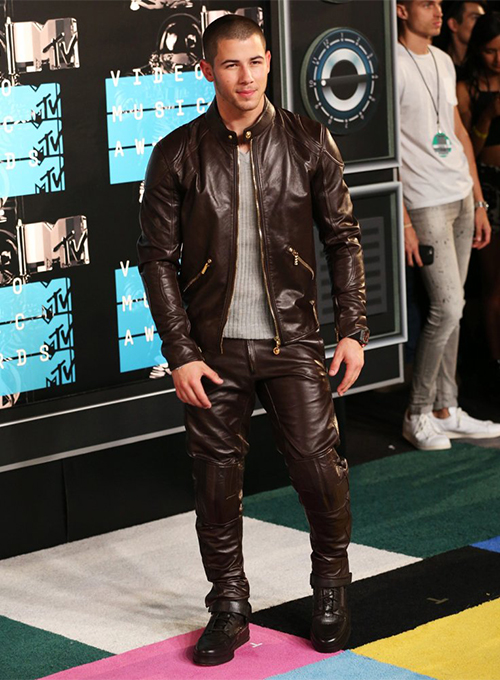 Nick Jonas Leather Pants