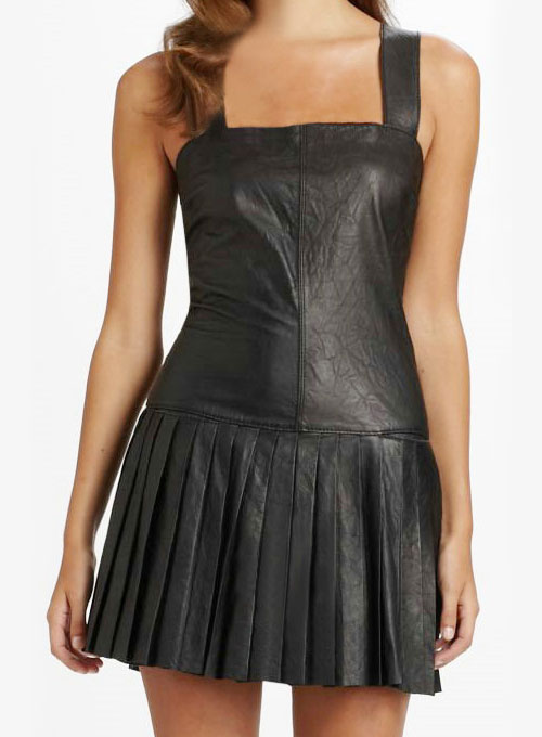 Pleated Leather Dress - # 775
