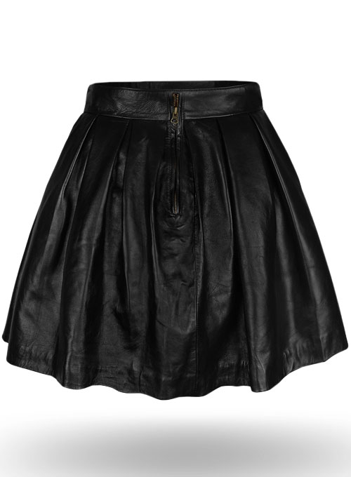 Pleated Leather Skirt Leathercult Com Leather Jeans