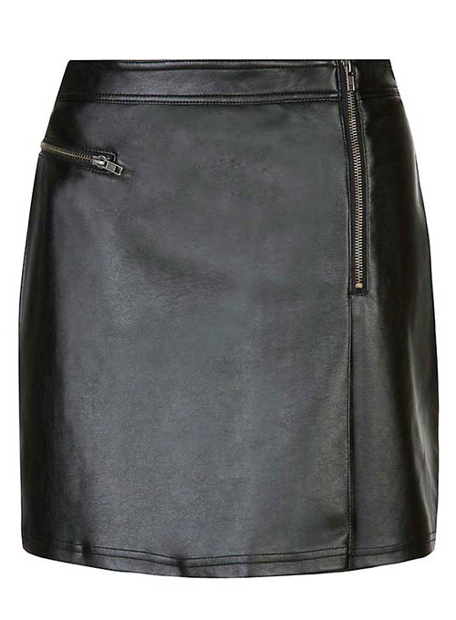 Plum Leather Skirt - # 441