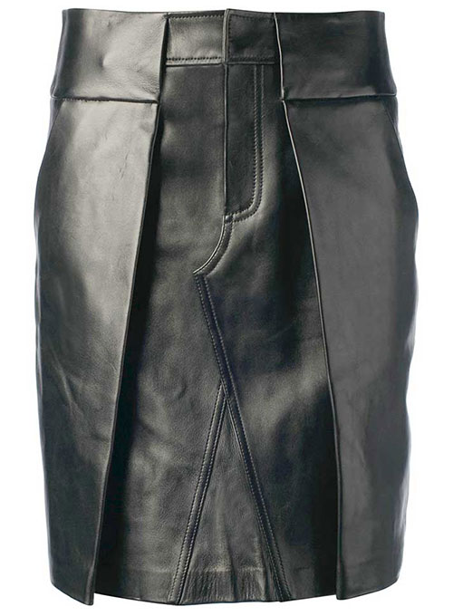 Reflective Leather Skirt - # 455