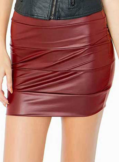 Ribbed Leather Skirt - # 445