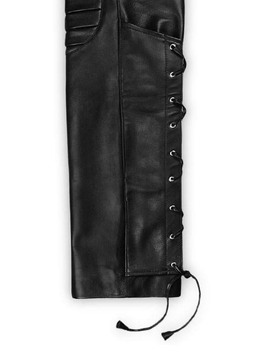 Ryder Leather Biker Jeans - Click Image to Close
